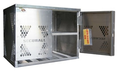 Cylinder Storage Cabinet, 6 LP, Aluminum