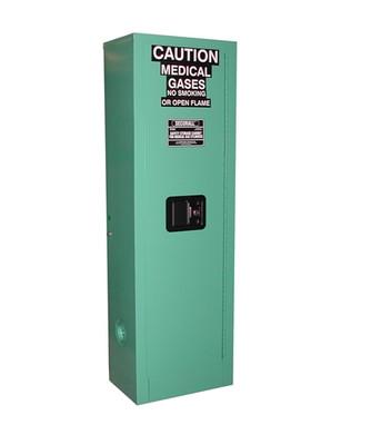 Medical Oxygen Gas Cylinder Fire-Lined Storage Cabinet, 2-Cylinders