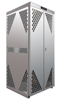 Cylinder Storage Cabinet, 10 LP, Aluminum