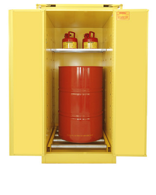 Flammable Drum Combo Safety Cabinet, Single Vertical Drum