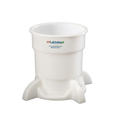 Secondary liquid waste container with base for Nalgene® 4 Liter bottle