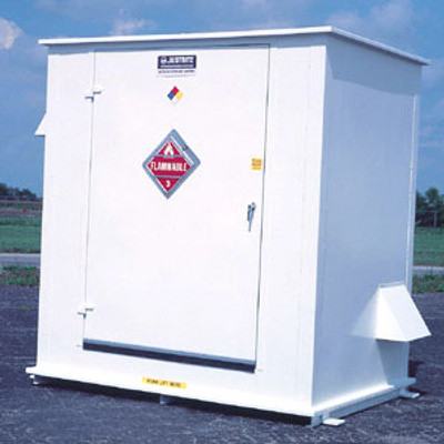 Hazmat Storage Building, 2-hour Fire Resistant 6-Drum Outdoor Locker
