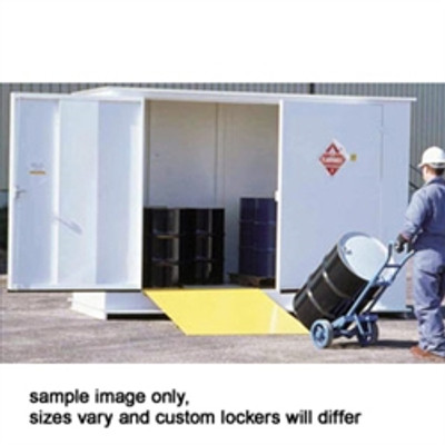 Hazmat Storage Building, 2-hour Fire Resistant 10-drum Outdoor Locker