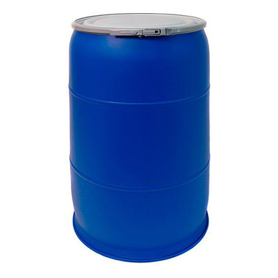 57 gallon HDPE, Blue Open Head Drum, Blue, UN Rated