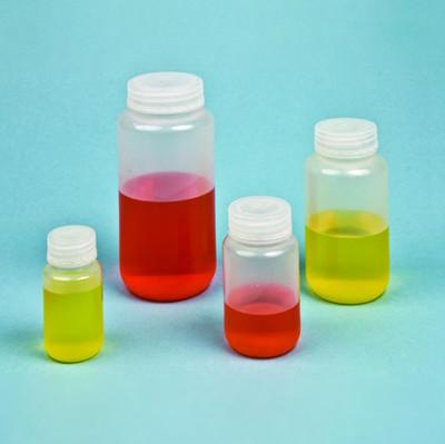 125mL Reagent Bottle, Wide Mouth, Polypropylene, case/500