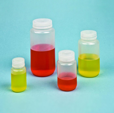 250mL Reagent Bottles, Wide Mouth, Polypropylene, case/250