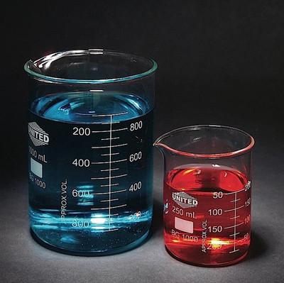 Low Form Beaker, Type I Borosilicate Glass, 4000mL, Each