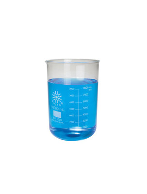 Low Form Beaker, Type I Borosilicate Glass, 5000mL, Each