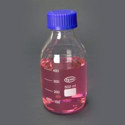 Borosilicate Glass Media Storage Bottles, 500mL, case/10