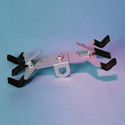Double Sided Burette Clamp with Spring Jaws, each