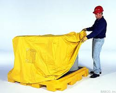 Spill Pallet P4 Pull-over Cover for 4-Drum Spill Pallets, Yellow