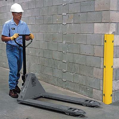 "Corner Protector, 42"" Yellow Polyethylene Bumper Guard"