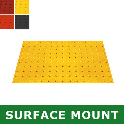 Surface-Mount ADA Mat, Compliant Detectable Warning, 2 x 3'
