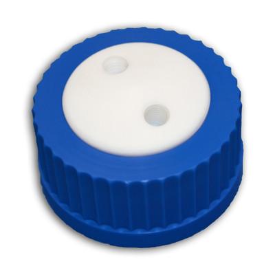 2-Port Cap for Glass Bottle, GL-45, Complete Kit