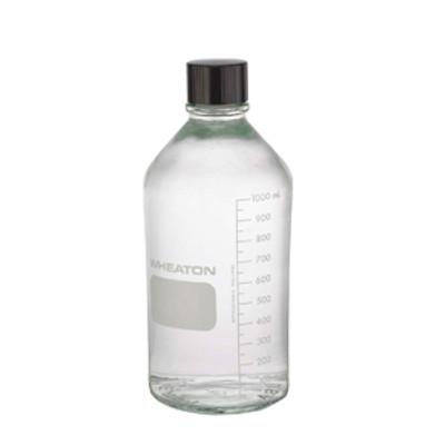 WHEATON® 1000mL Media Bottles, Borosilicate Glass, PTFE Lined Caps, case/24
