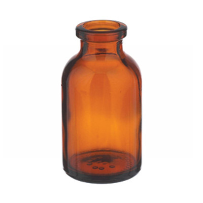 WHEATON® 10mL Amber Serum Bottle, Borosilicate Glass, Crimp Top, case/288