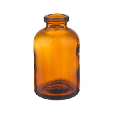 WHEATON® 30mL Amber Serum Bottles, Borosilicate Glass, Crimp Top, case/288