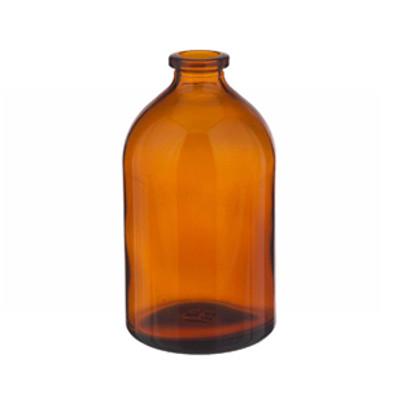 WHEATON® 100mL Amber Serum Bottle, Borosilicate Glass Amber, Crimp Top, case/144