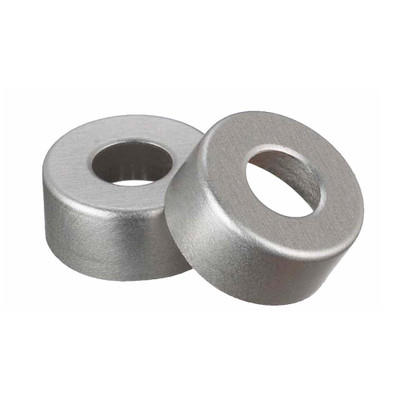 WHEATON(R) 13mm Crimp Seal Open Top Hole Caps, Aluminum, Unlined, case/1000
