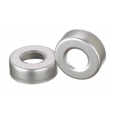 WHEATON® 20mm Crimp Seal Open Top Hole Caps, Aluminum, Unlined, case/1000