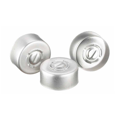 WHEATON® 13mm Crimp Seal, Center Tear-Out, Aluminum, Unlined, case/1000