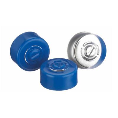 WHEATON(R) 13mm Crimp Seal, Center Tear-Out, Aluminum Blue, Unlined, case/1000