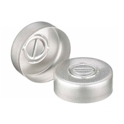 WHEATON® 20mm Crimp Seal, Center Tear-Out, Aluminum, Unlined, case/1000