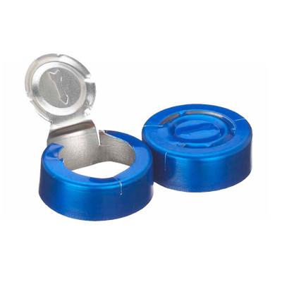 WHEATON® 20mm Crimp Seal, Tear Off, Aluminum Blue, Unlined, case/1000