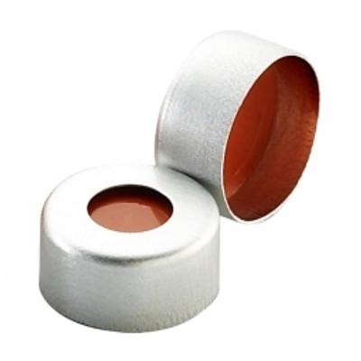 WHEATON® 11mm Crimp Seal, Aluminum, PTFE/Red Rubber, case/1000