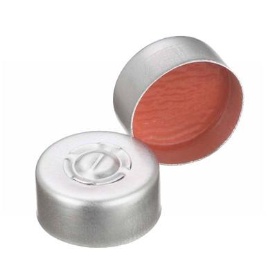 WHEATON(R) 13mm Crimp Seal, Center Tear-Out Aluminum, PTFE/Rubber, case/1000