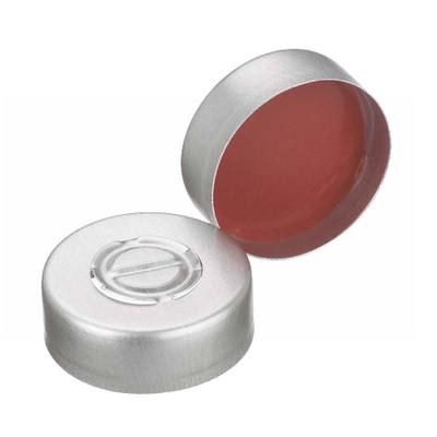 WHEATON® 20mm Crimp Seal, Center Tear-Out Aluminum, PTFE/Rubber, case/1000
