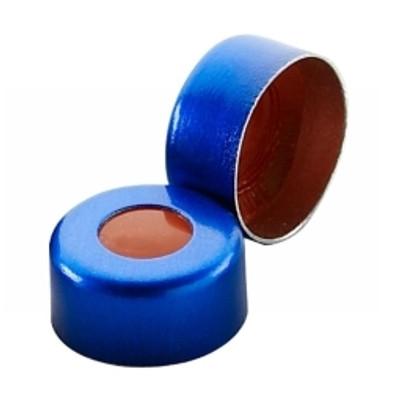 WHEATON(R) 11mm Crimp Seal, Aluminum Blue, PTFE/Silicone/PTFE, case/1000