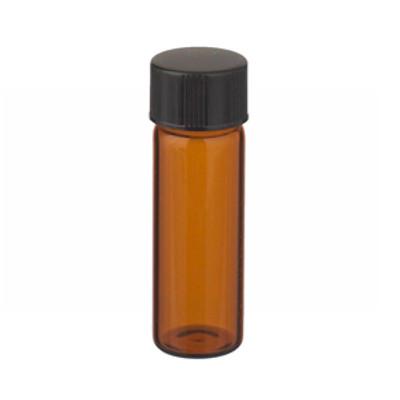 WHEATON® 4mL Amber Glass Sample Vials In Box, Screw Thread, Rubber Lined Caps, case/144