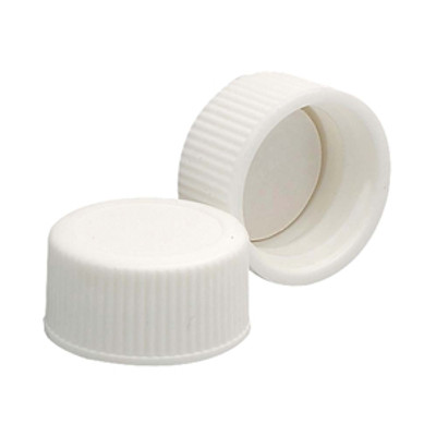 WHEATON® 18-400 PP Caps, White, Poly Vinyl Liner, case/144