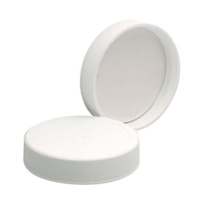 WHEATON® 48-400 PP Caps, White, Poly Vinyl Liner, case/72