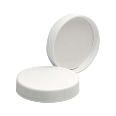 WHEATON® 53-400 Polypropylene Caps, White, Poly Vinyl Liner, case/72
