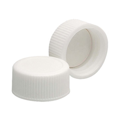 WHEATON® 20-400 PP Caps, White, PTFE Liner, case/144