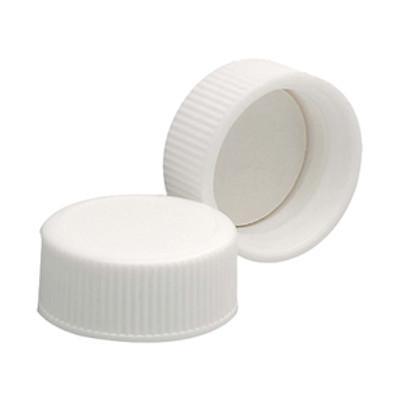 WHEATON® 22-400 Polypropylene Caps, White, PTFE Liner, case/144