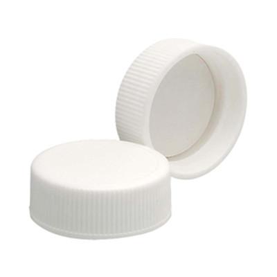 WHEATON® 28-400 Polypropylene Caps, White, PTFE Liner, case/144