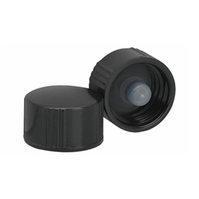 WHEATON® 13-425 Black Cap with Cone-Shaped Insert, case/144