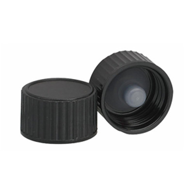 WHEATON® 15-425 Black Cap with Cone-Shaped Insert, case/144