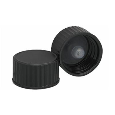 WHEATON® 18-400 Black Cone Lined Caps, case/144