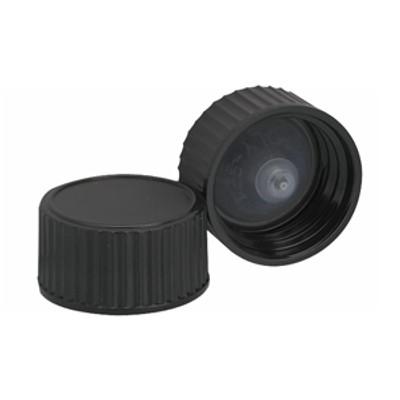 WHEATON® 20-400 Black Cone Lined Caps, case/144