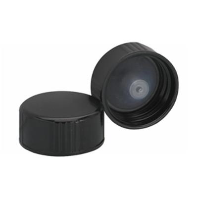 WHEATON(R) 22-400 Black Cone Lined Caps, case/144