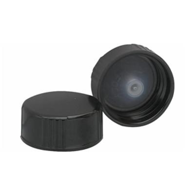 WHEATON® 24-400 Black Cone Lined Caps, case/144