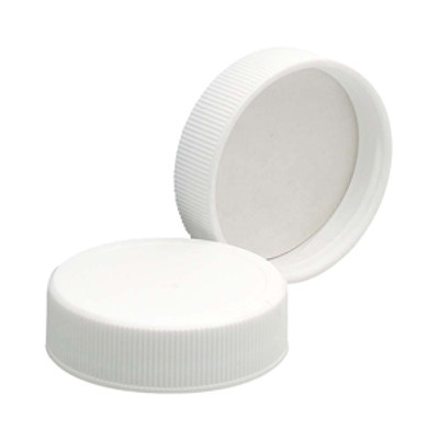 WHEATON® 38-400 PP Caps, White, Foamed Poly Liner, case/72
