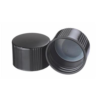 WHEATON® 38-430 Black Phenolic Caps, Poly Liner, case/200