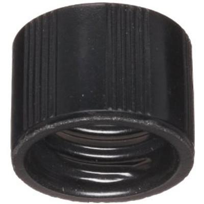 WHEATON® 8-425 Black Phenolic Caps with White Rubber Liner, case/ 1000