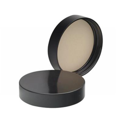 WHEATON® 51-400 Black Phenolic Caps, White Rubber Liner, case/ 100
