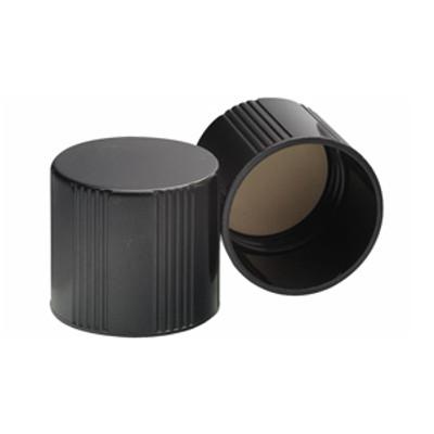 WHEATON® 38-415 Black Phenolic Caps, White Rubber Liner, case/ 200